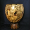 Spalted Turned Bowl with Large Base by Al Rabold